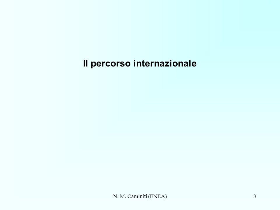 N. M. Caminiti (ENEA)3 Il percorso internazionale