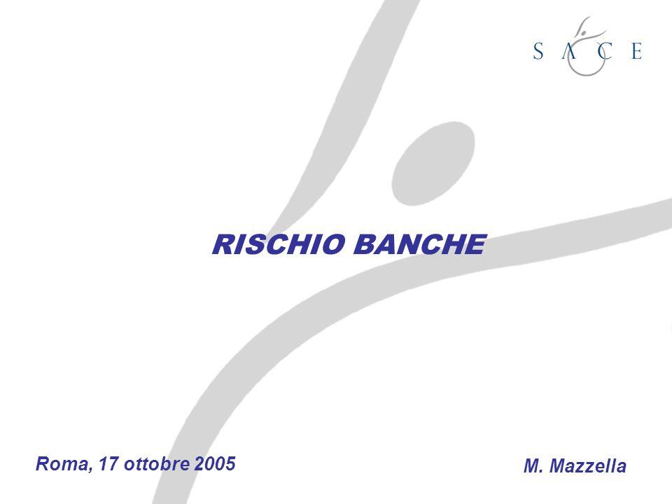 RISCHIO BANCHE Roma, 17 ottobre 2005 M. Mazzella