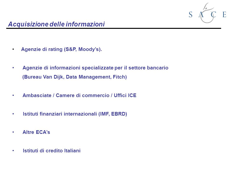 Agenzie di rating (S&P, Moodys).