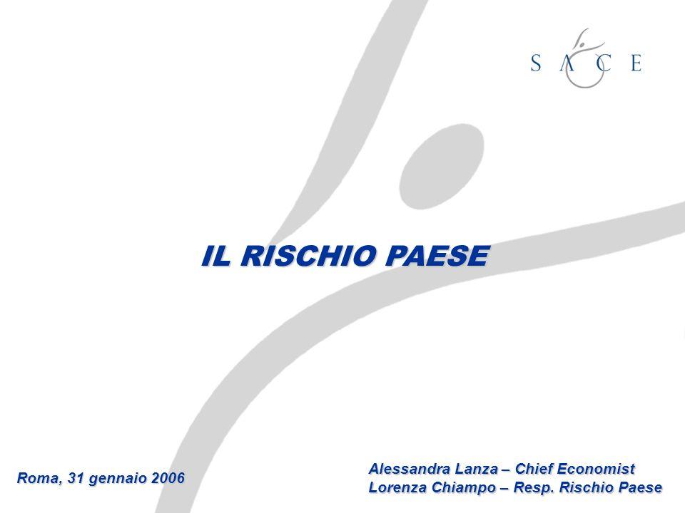 Roma, 31 gennaio 2006 Alessandra Lanza – Chief Economist Lorenza Chiampo – Resp. Rischio Paese IL RISCHIO PAESE