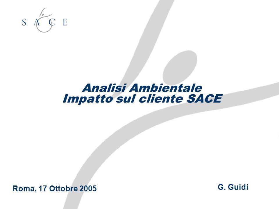 Analisi Ambientale Impatto sul cliente SACE G. Guidi Roma, 17 Ottobre 2005