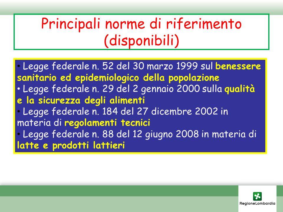 Principali determinazioni previste per i prodotti della pesca Determinazioni microbiologiche: cbt coliformi V.