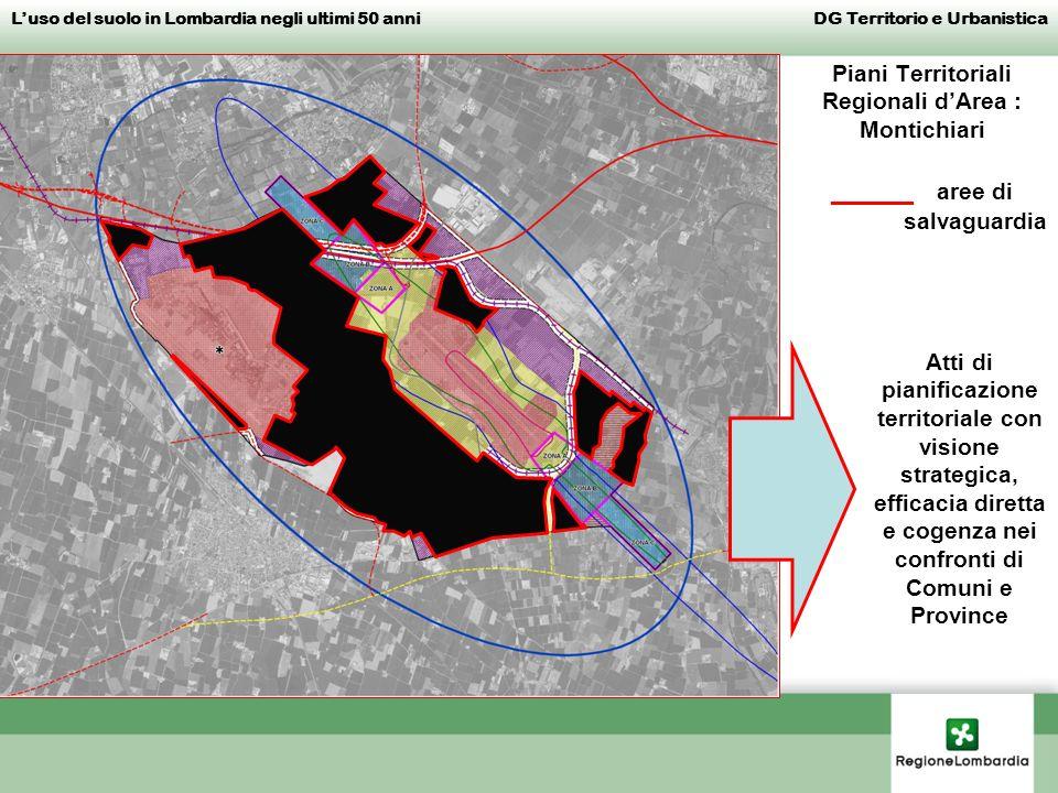 Piani Territoriali Regionali dArea : Montichiari _____ aree di salvaguardia Luso del suolo in Lombardia negli ultimi 50 anni DG Territorio e Urbanisti