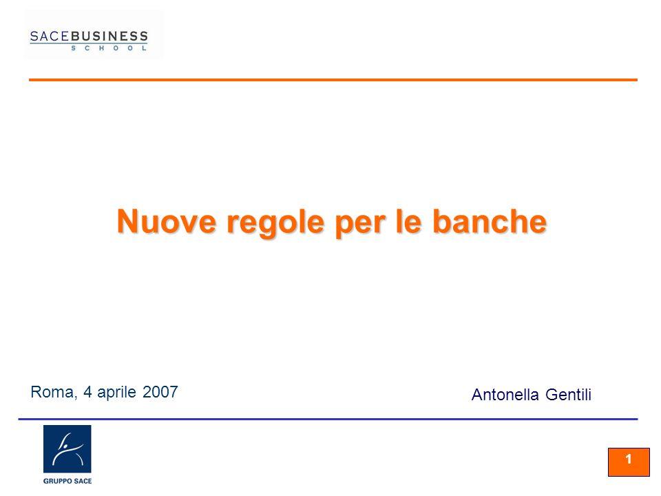 11 1 Roma, 4 aprile 2007 Antonella Gentili Nuove regole per le banche