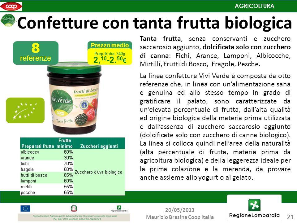 Confetture con tanta frutta biologica Tanta frutta, senza conservanti e zucchero saccarosio aggiunto, dolcificata solo con zucchero di canna: Fichi, A