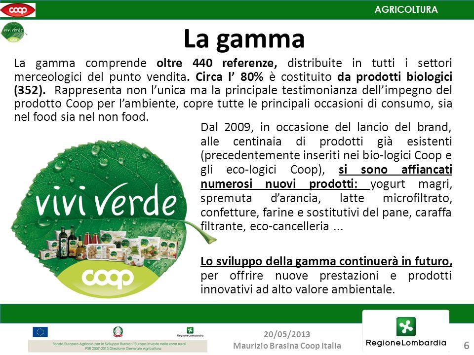Dal 2009, in occasione del lancio del brand, alle centinaia di prodotti già esistenti (precedentemente inseriti nei bio-logici Coop e gli eco-logici C