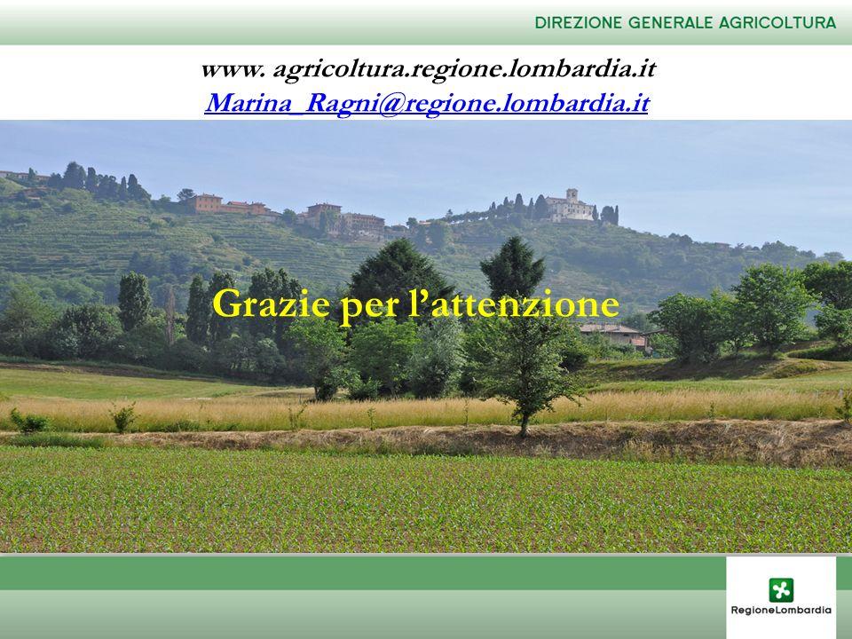 www. agricoltura.regione.lombardia.it Marina_Ragni@regione.lombardia.it Grazie per lattenzione