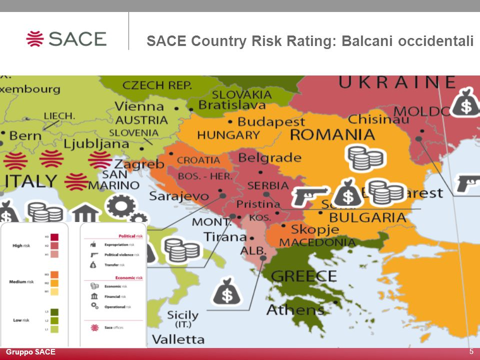 Gruppo SACE 5 SACE Country Risk Rating: Balcani occidentali