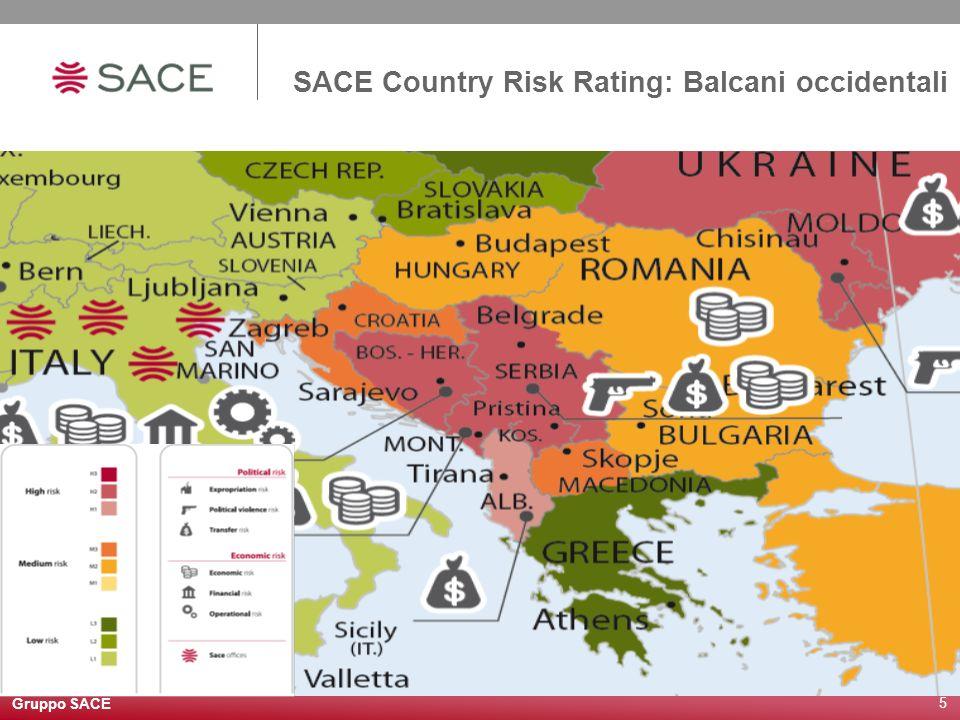 Gruppo SACE 6 Le nuove condizioni di assicurabilità: il superamento della dicotomia apertura/chiusura A partire da marzo 2010 SACE classifica il proprio atteggiamento assicurativo in 4 categorie: Senza condizioni: nessuna restrizione alloperatività.
