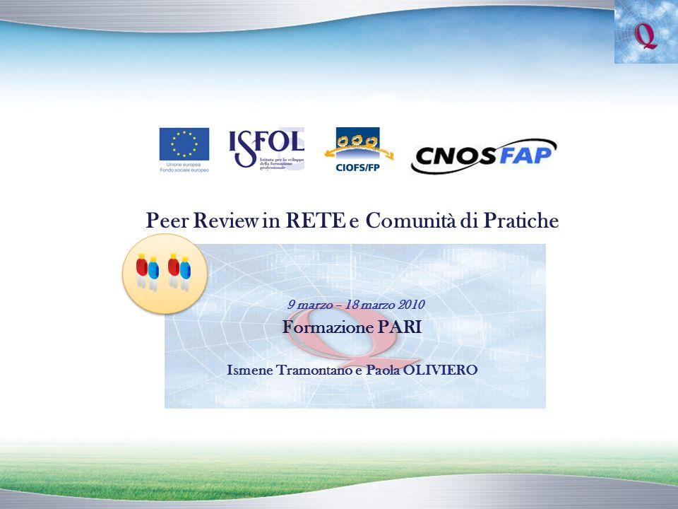 Punti di forza della Peer Review (1) Si può inserire tra le strategie e le attività per la Qualità già in corso (es.