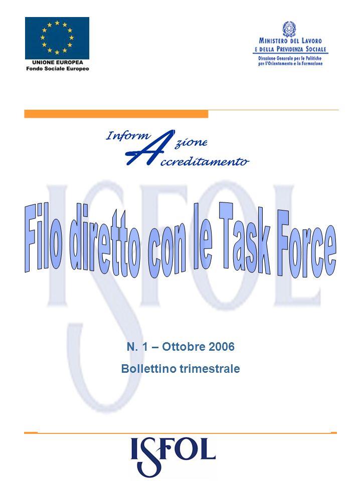 N. 1 – Ottobre 2006 Bollettino trimestrale