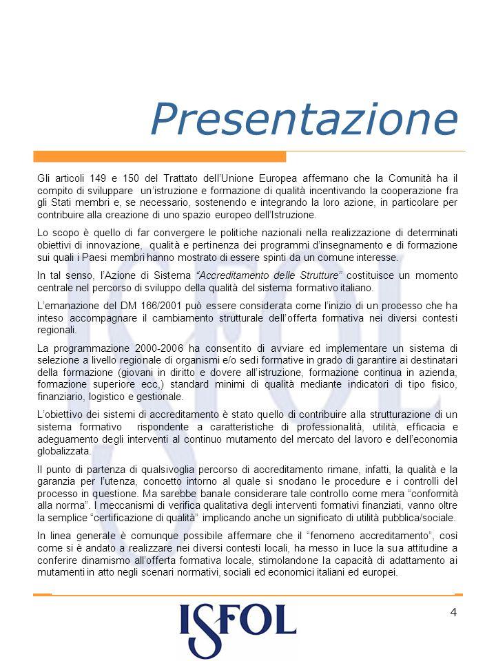 4 Presentazione Gli articoli 149 e 150 del Trattato dellUnione Europea affermano che la Comunità ha il compito di sviluppare unistruzione e formazione di qualità incentivando la cooperazione fra gli Stati membri e, se necessario, sostenendo e integrando la loro azione, in particolare per contribuire alla creazione di uno spazio europeo dellIstruzione.