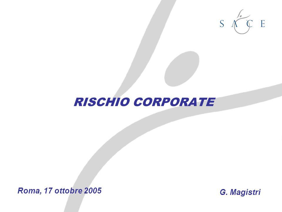 RISCHIO CORPORATE Roma, 17 ottobre 2005 G. Magistri