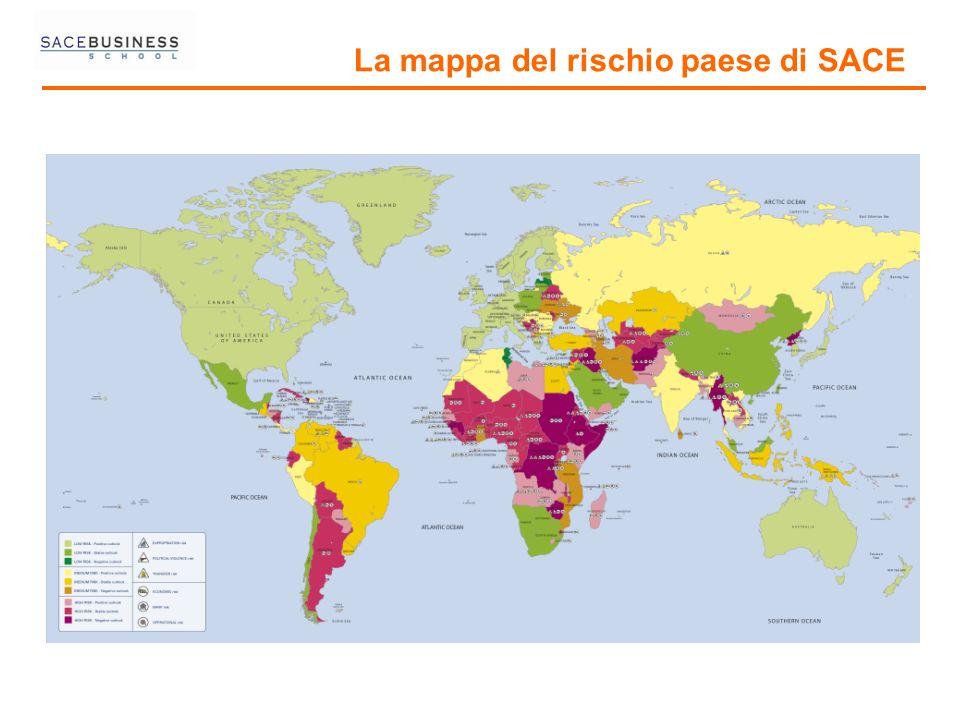La mappa del rischio paese di SACE