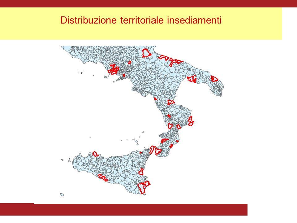 Distribuzione territoriale insediamenti