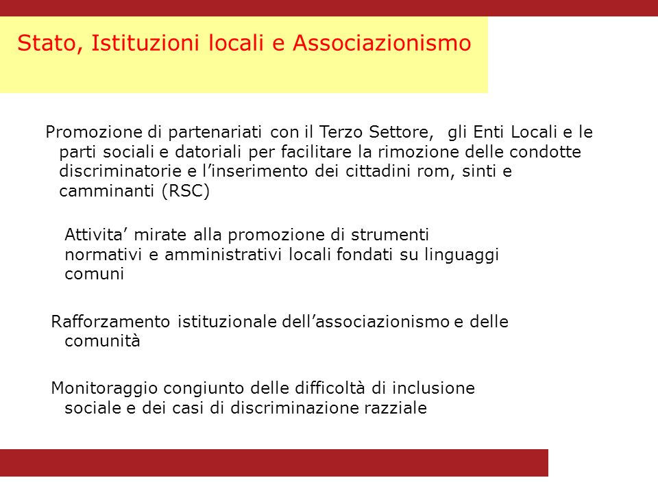 La Campagna DOSTA contro i pregiudizi nei confronti dei Rom Il Tavolo tecnico di coordinamento della Campagna Federazione Rom e Sinti Insieme Federazione Romanì UNIRSI Opera Nomadi