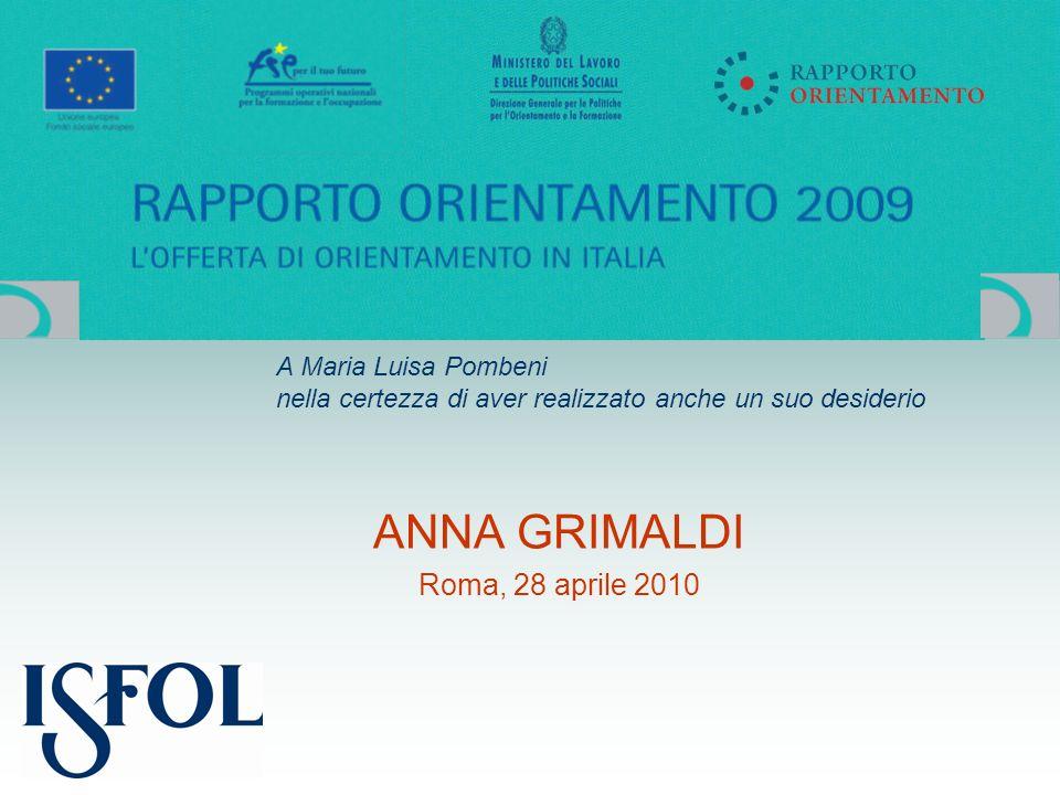 ANNA GRIMALDI Roma, 28 aprile 2010 A Maria Luisa Pombeni nella certezza di aver realizzato anche un suo desiderio