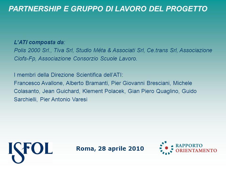 LATI composta da: Polis 2000 Srl., Tiva Srl, Studio Méta & Associati Srl, Ce.trans Srl, Associazione Ciofs-Fp, Associazione Consorzio Scuole Lavoro.