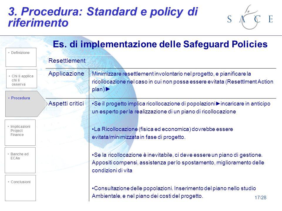 Es.di implementazione delle Safeguard Policies 3.