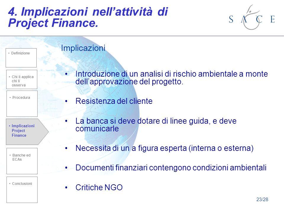 Introduzione di un analisi di rischio ambientale a monte dellapprovazione del progetto.