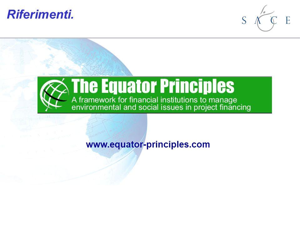 Riferimenti. www.equator-principles.com