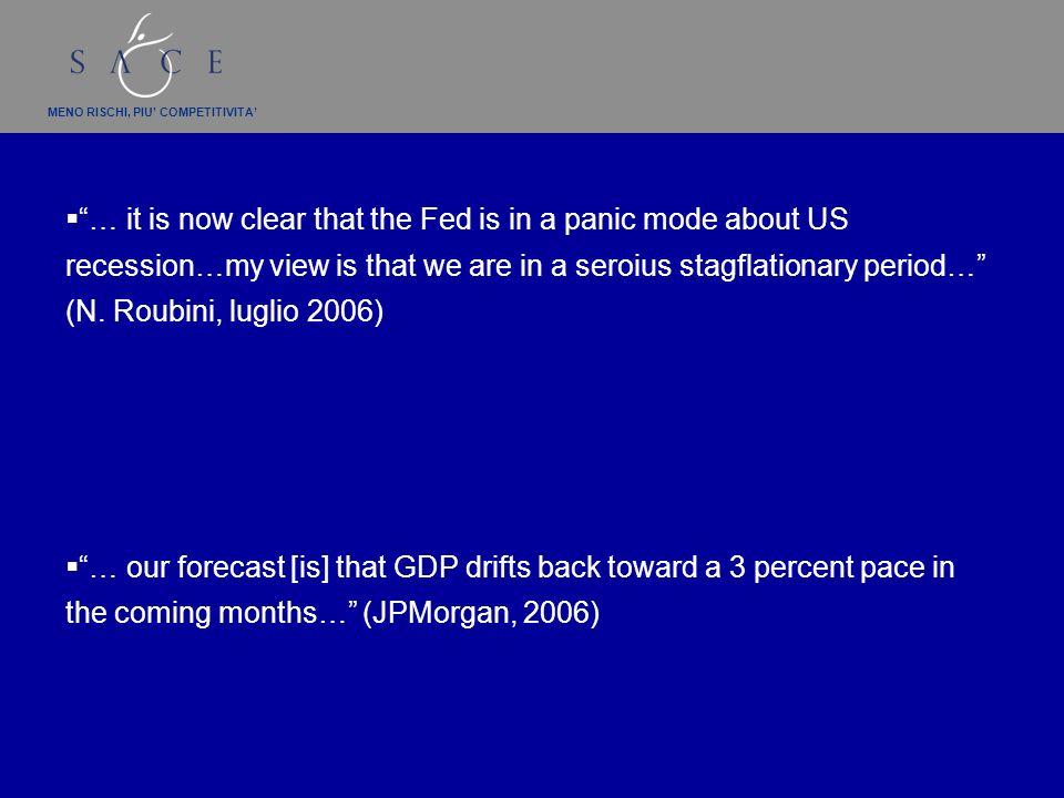 MENO RISCHI, PIU COMPETITIVITA Rallentamento o hard landing?/3 E linflazione ha rialzato la testa negli Usa e nellarea euro *Fonte: FMI Area euroUsa
