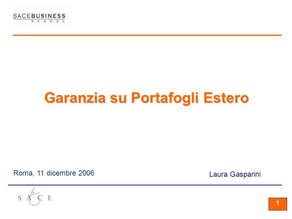 11 1 Roma, 11 dicembre 2006 Laura Gasparini Garanzia su Portafogli Estero