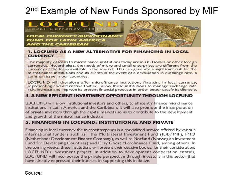 2 nd Example of New Funds Sponsored by MIF Source: