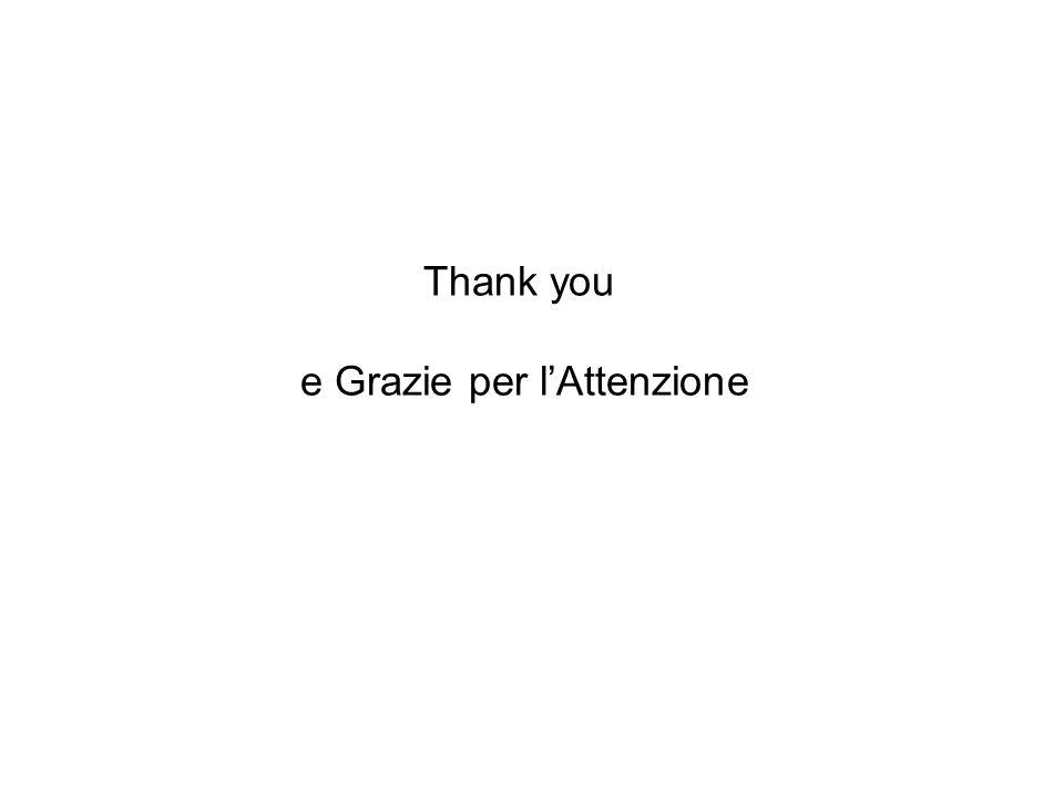 Thank you e Grazie per lAttenzione