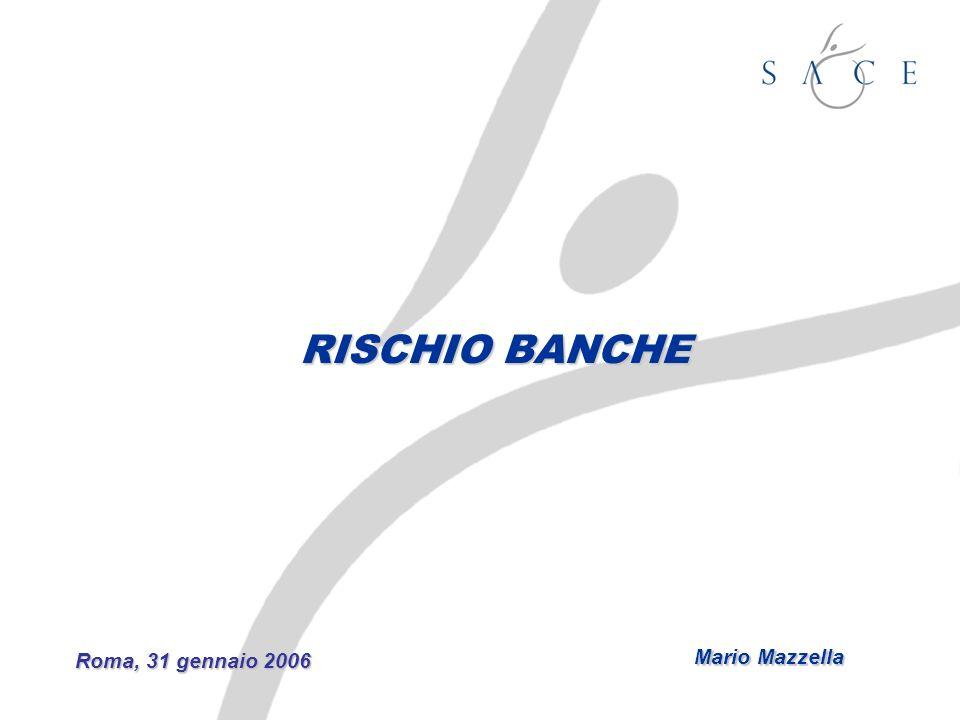 RISCHIO BANCHE Roma, 31 gennaio 2006 Mario Mazzella