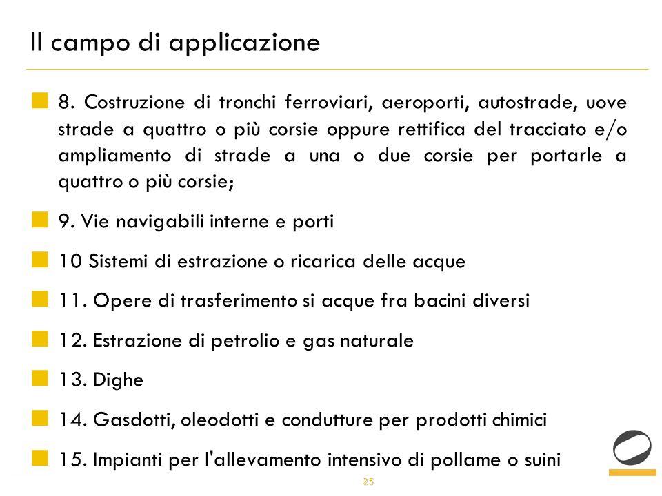 25 Il campo di applicazione 8.