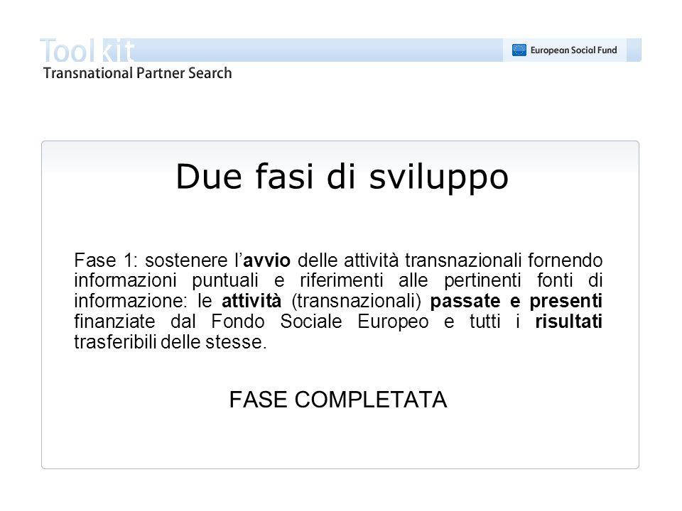 Help desk Per ulteriori informazioni o assistenza alluso del Toolkit è possibile contattare il servizio di assistenza tecnica: Telefono: + 39 067265439 Fax: + 39 06726543229 E-mail: helpdesk@transnational-toolkit.euhelpdesk@transnational-toolkit.eu