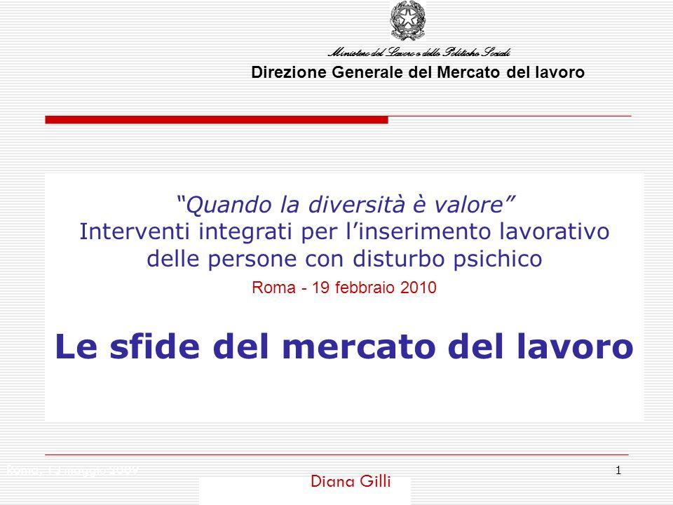 Ministero del Lavoro e delle Politiche Sociali 2 Alcuni dati e alcune stime Le persone con disabilità in Italia sono poco più di 2milioni 600mila, pari al 4,8% circa della popolazione di 6 anni e più che vive in famiglia.