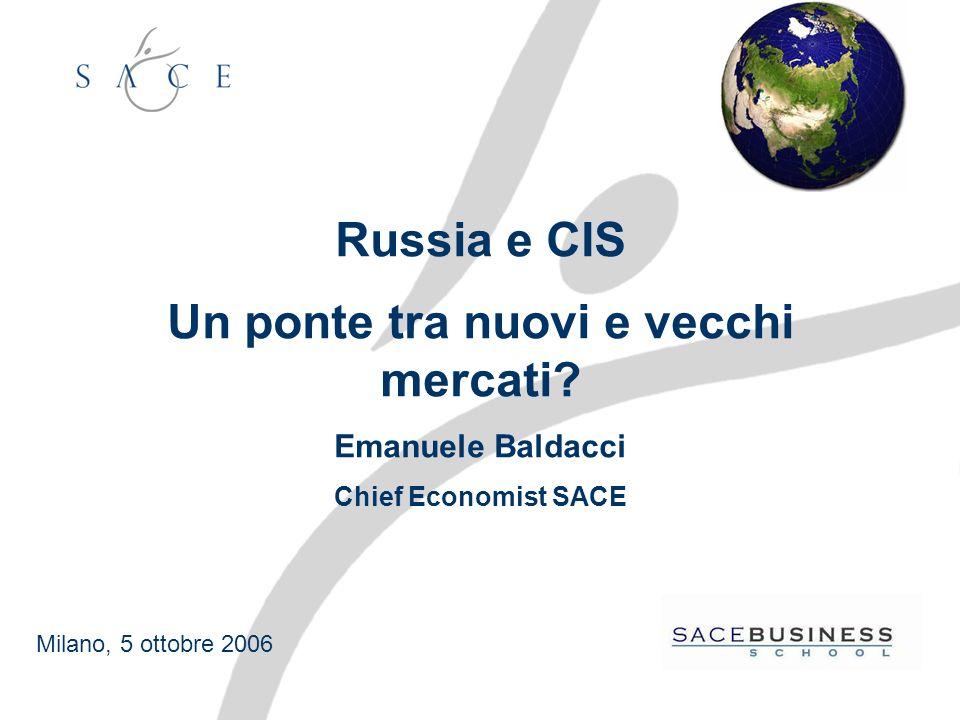 Russia e CIS Un ponte tra nuovi e vecchi mercati.