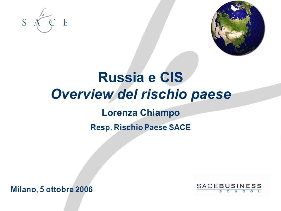Russia e CIS Overview del rischio paese Lorenza Chiampo Resp.