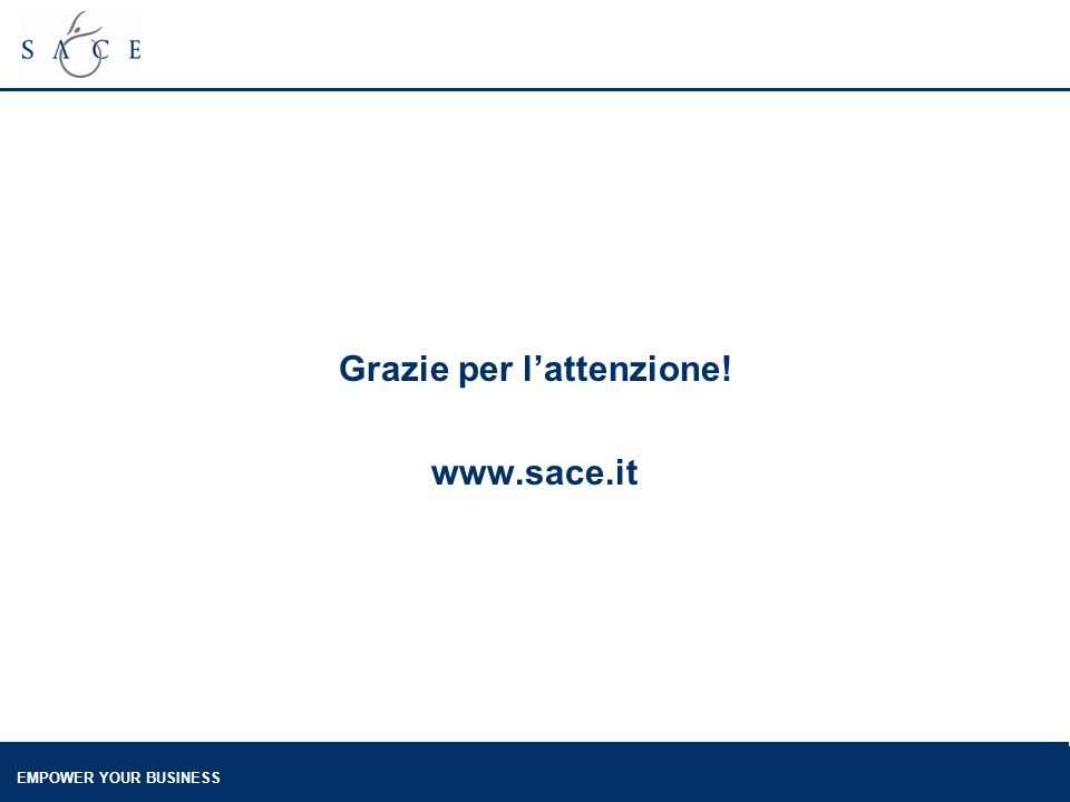 EMPOWER YOUR BUSINESS Grazie per lattenzione! www.sace.it