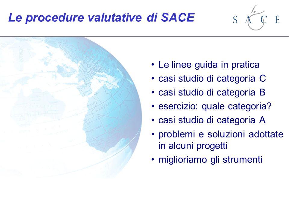 Le linee guida in pratica casi studio di categoria C casi studio di categoria B esercizio: quale categoria? casi studio di categoria A problemi e solu