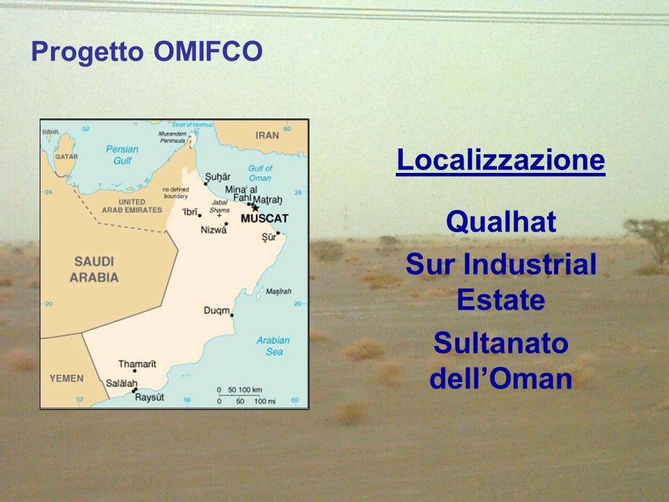 Localizzazione Qualhat Sur Industrial Estate Sultanato dellOman Progetto OMIFCO