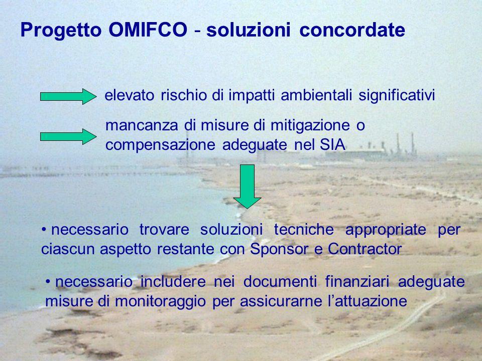 Progetto OMIFCO - soluzioni concordate elevato rischio di impatti ambientali significativi mancanza di misure di mitigazione o compensazione adeguate