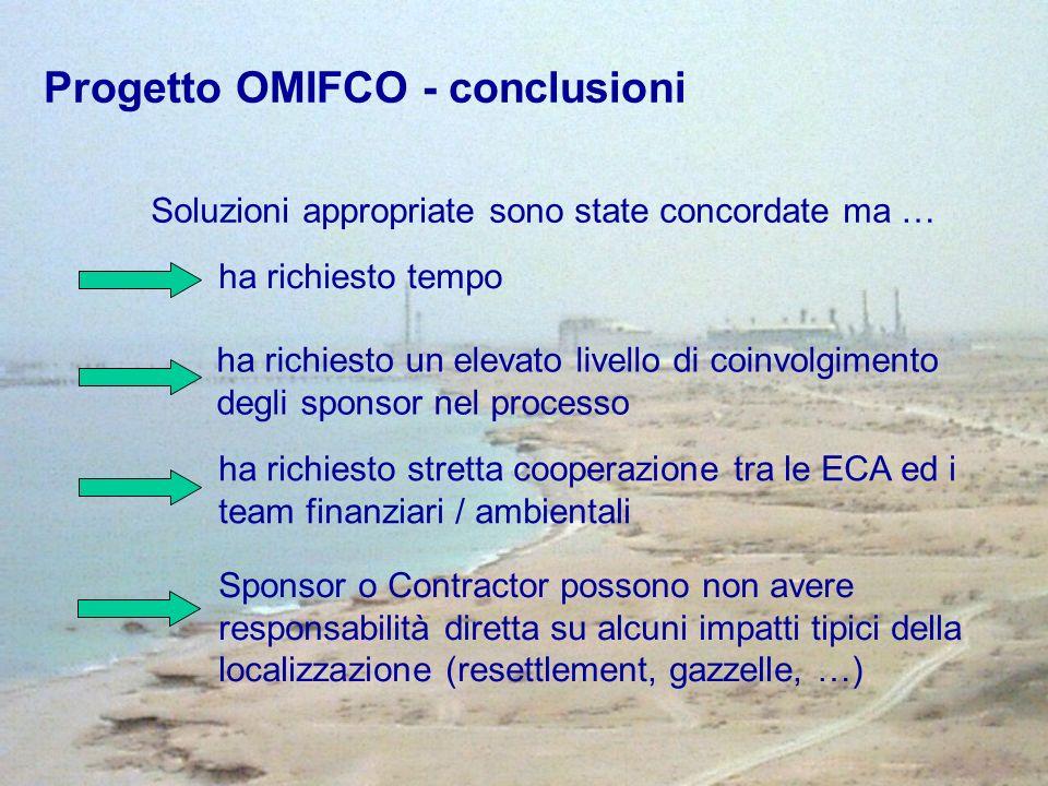 ha richiesto tempo Soluzioni appropriate sono state concordate ma … ha richiesto stretta cooperazione tra le ECA ed i team finanziari / ambientali ha