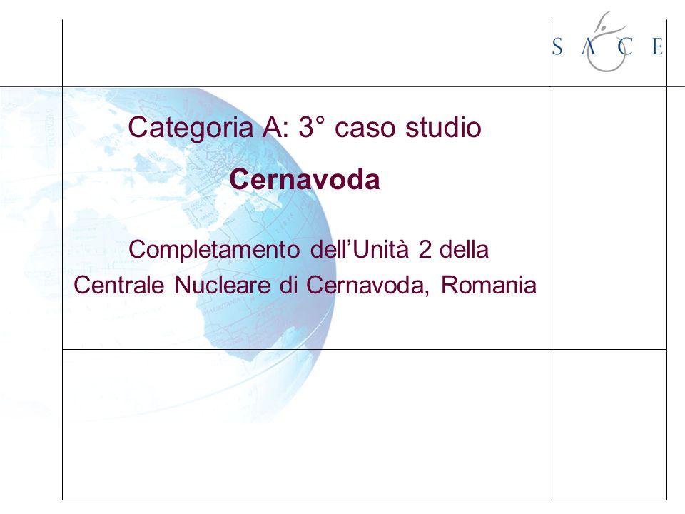 Categoria A: 3° caso studio Cernavoda Completamento dellUnità 2 della Centrale Nucleare di Cernavoda, Romania