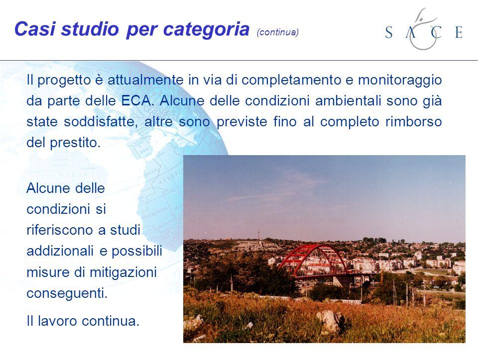 Il progetto è attualmente in via di completamento e monitoraggio da parte delle ECA.