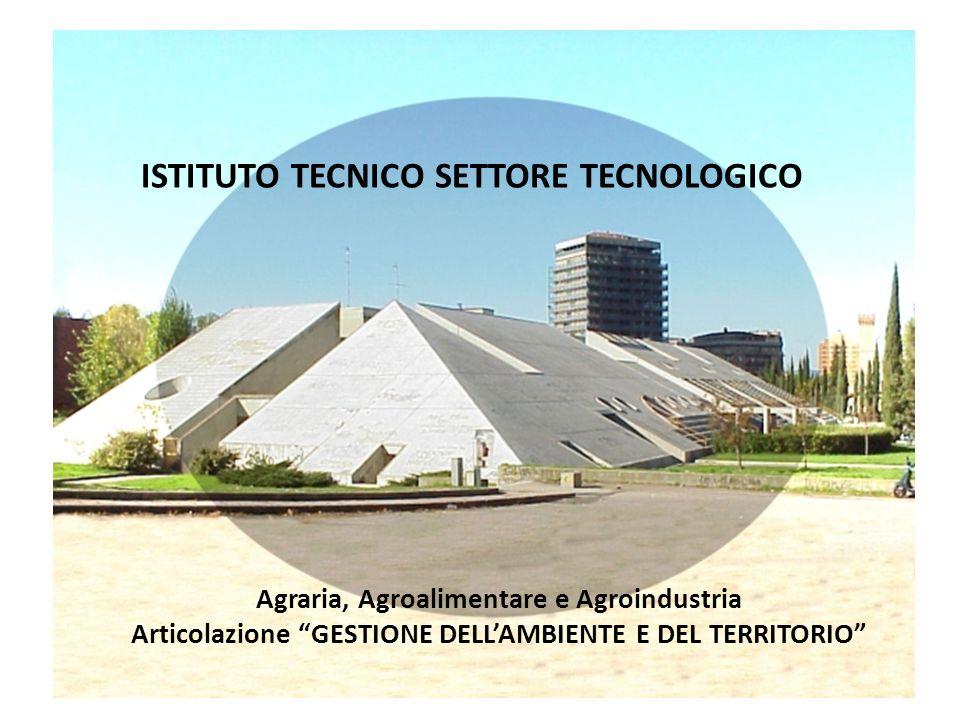 ISTITUTO TECNICO SETTORE TECNOLOGICO Agraria, Agroalimentare e Agroindustria Articolazione GESTIONE DELLAMBIENTE E DEL TERRITORIO