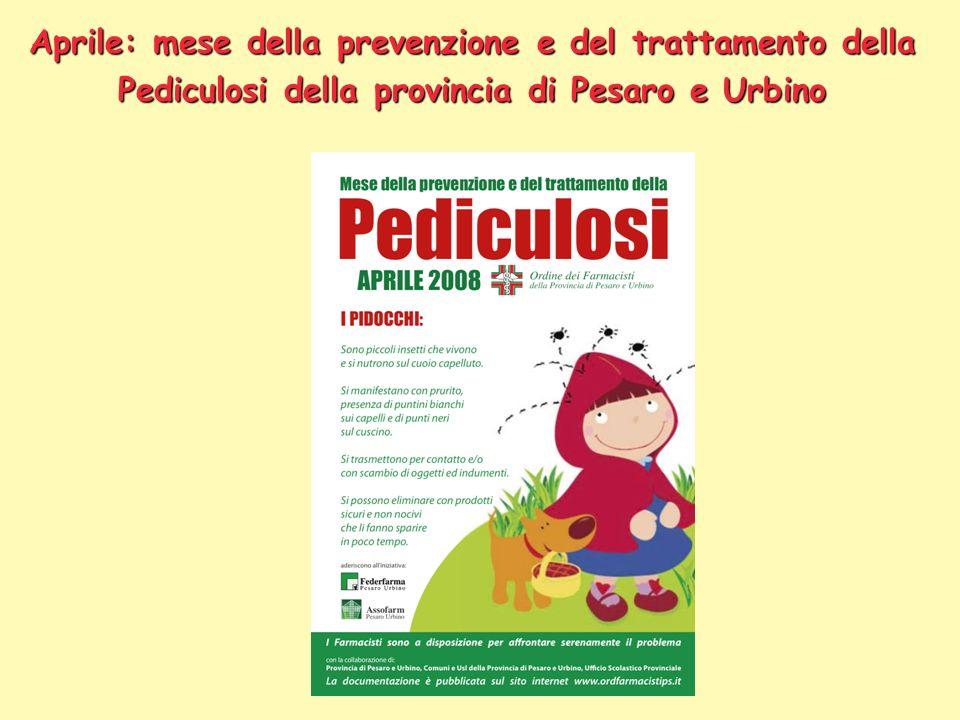 Aprile: mese della prevenzione e del trattamento della Pediculosi della provincia di Pesaro e Urbino