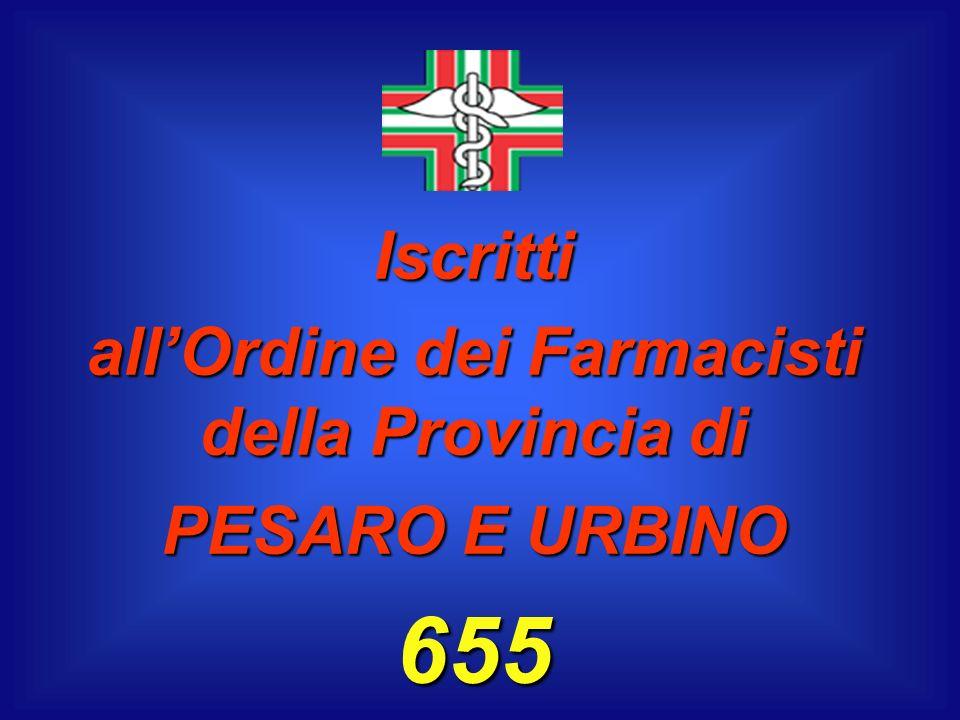 Iscritti allOrdine dei Farmacisti della Provincia di PESARO E URBINO 655