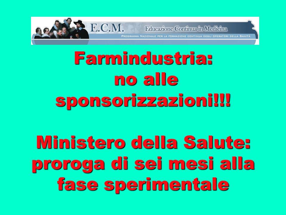 Farmindustria: no alle sponsorizzazioni!!.