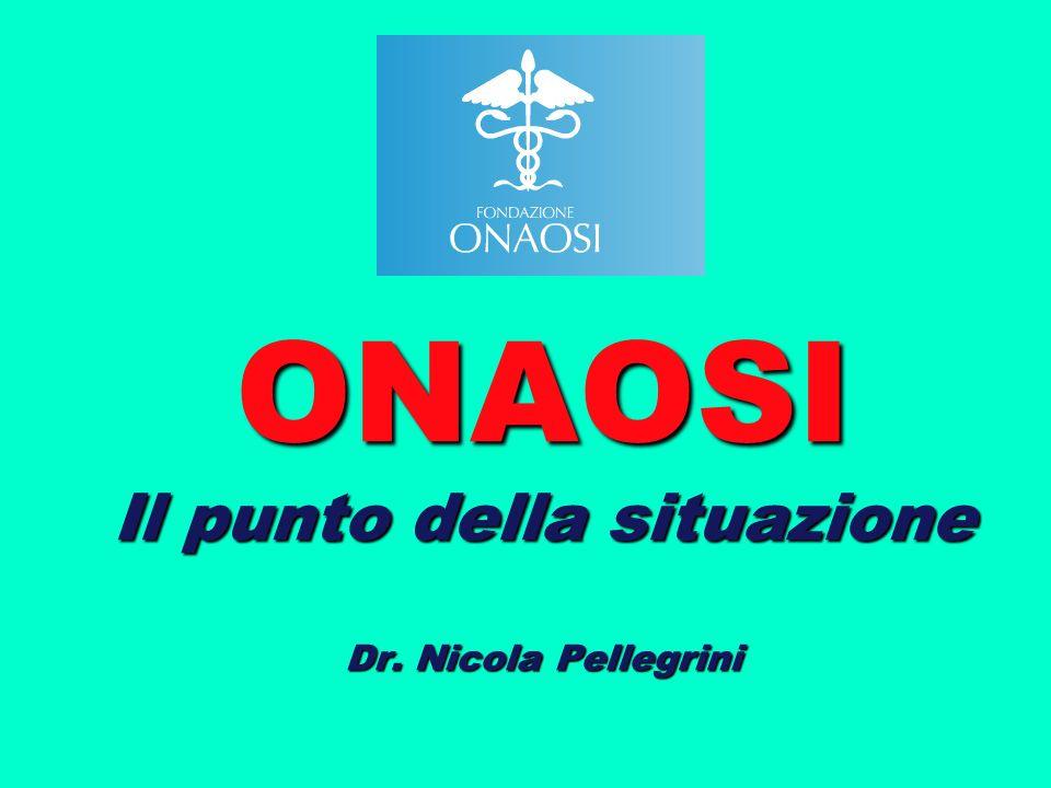 ONAOSI Il punto della situazione Dr. Nicola Pellegrini