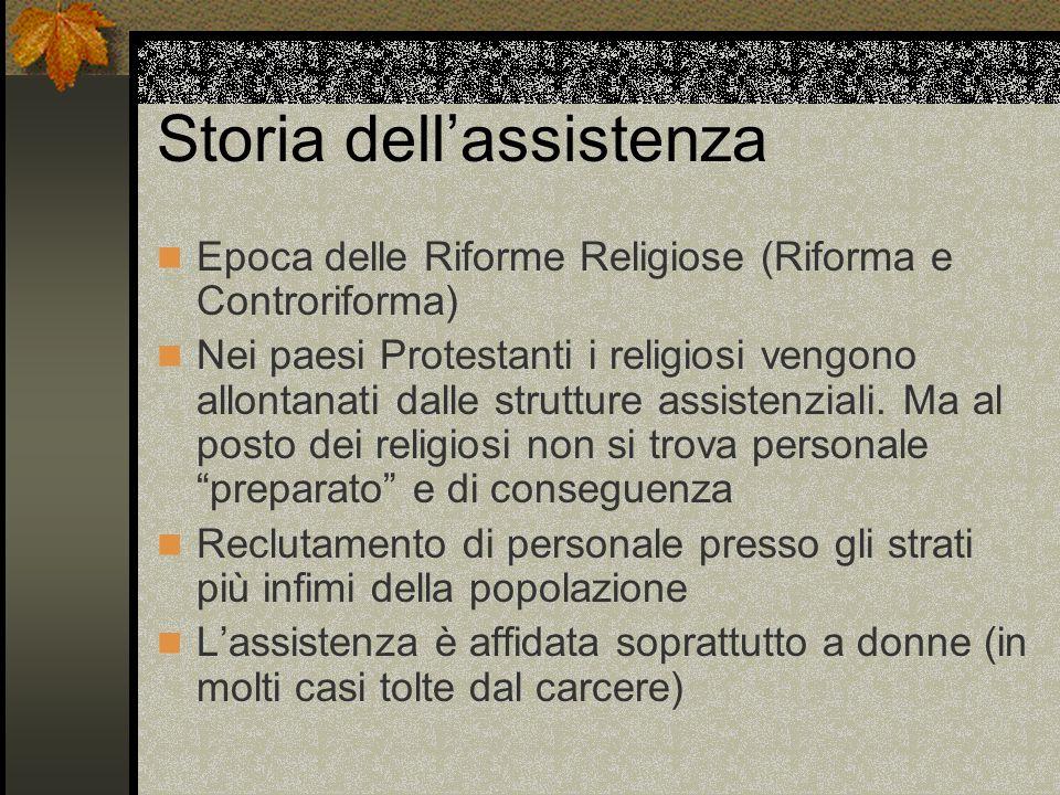 Storia dellassistenza 1861 : Unità dItalia La Chiesa continua ad avere ingerenza nella vita ospedaliera.