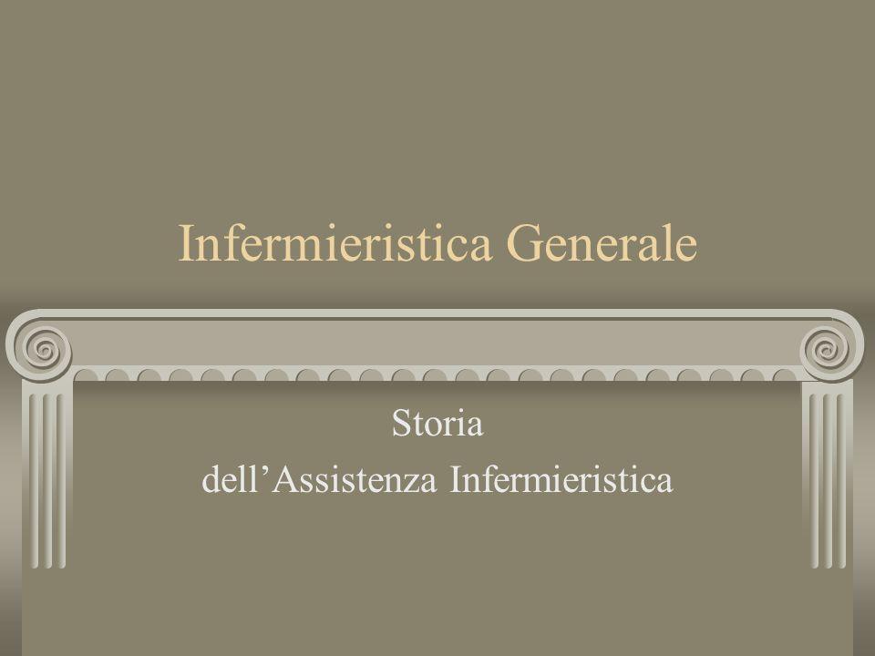 Infermieristica Generale Storia dellAssistenza Infermieristica