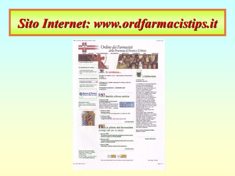 Questionario Facoltà di Farmacia Università di Camerino Livelli di alfabetizzazione informatica dei farmacisti